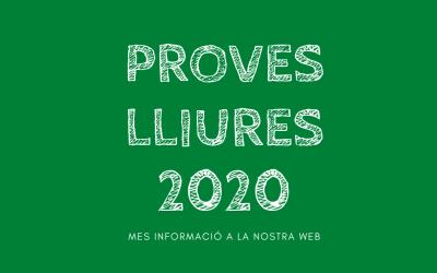 PROVES LLIURES 2020