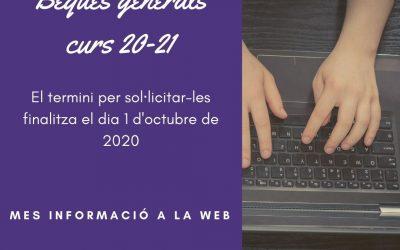 Beques generals curs 2020-2021