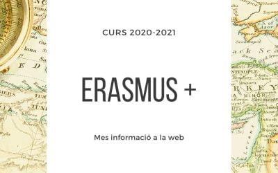 Convocatòria ERASMUS + 2020/2021