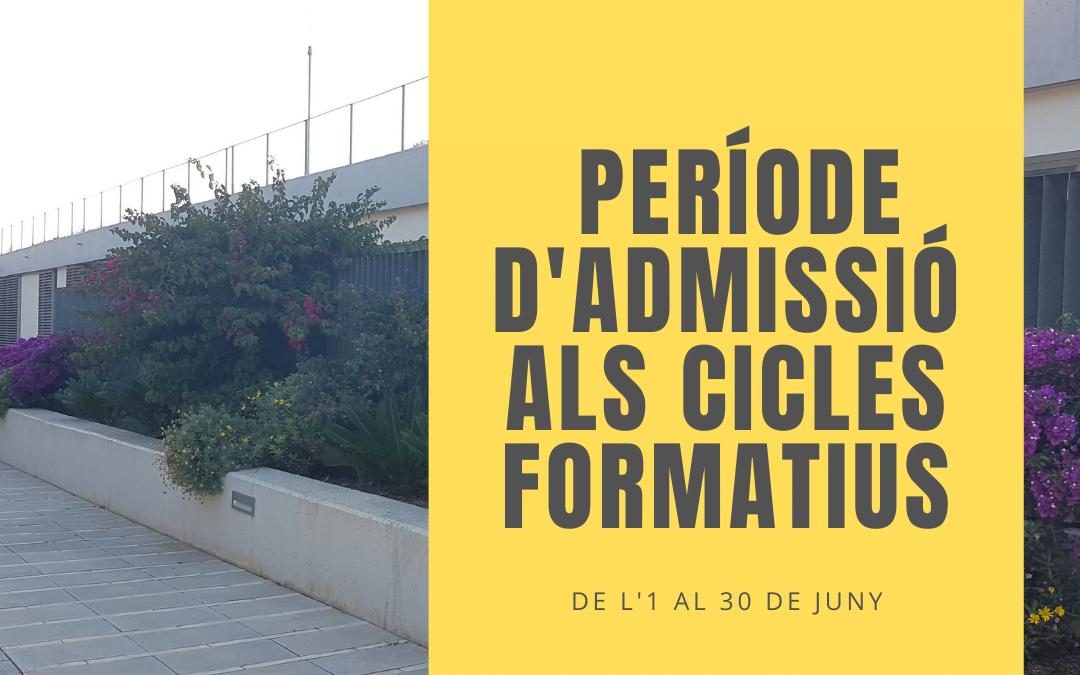 Període d'admissió al curs 2021-2022. FP Presèncial