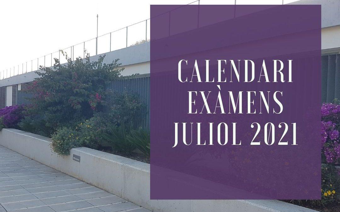 CALENDARI PROVES EXTRAORDINÀRIES CICLES FORMATIUS CURS 20/21